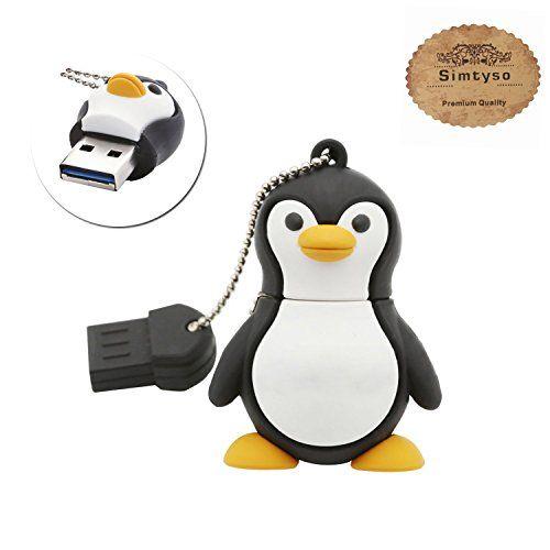 photo Wallpaper of Simtyso-Simtyso Niedlich Pinguin USB Stick 16GB Speicherstick 2.0 Mit Schlüsselanhänger-Der Pinguin