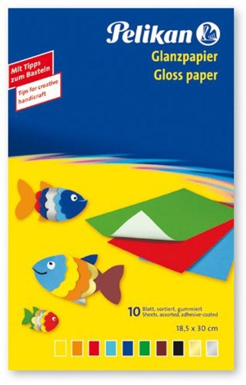 photo Wallpaper of Pelikan-Pelikan 137935   Glanzpapier Gummiert, 10 Blatt-