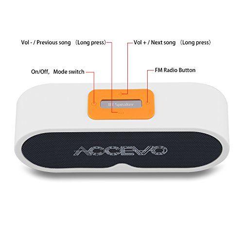photo Wallpaper of Accevo-Bluetooth Lautsprecher, Accevo Tragbar Wirelss Speaker Kabellos Musikbox Mit TF Karte,-Weiß