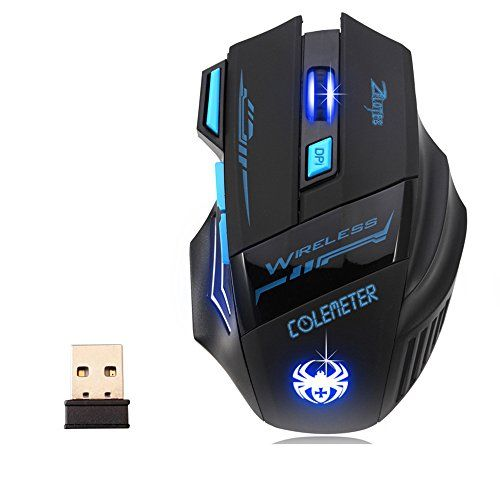 photo Wallpaper of COLEMETER-Gaming Maus–COLEMETER Wireless Gaming Maus Computer Maus Bluetooth Optische Maus USB Kabellose Gaming Maus-