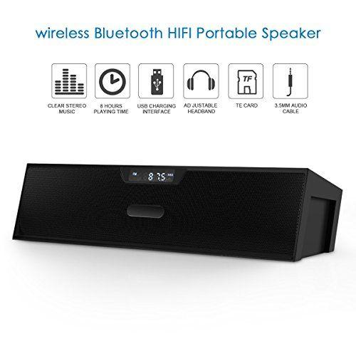 photo Wallpaper of ELEGIANT-Bluetooth Lautsprecher, ELEGIANT Bluetooth 4.0 Stereo Lautsprecher Radiowecker Wireless Speakers Bluetooth Box-Schwarz