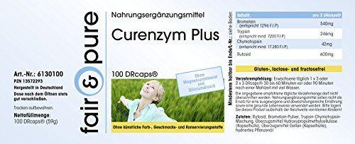 photo Wallpaper of Fair & Pure-Curenzym Plus, Enzym Komplex Mit Zeitverzögerter Freisetzung, Ohne Magnesiumstearat, 100 DRCaps, Enthält Bromelain,-