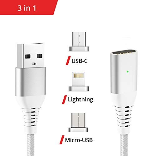 photo Wallpaper of Liamoo-Liamoo Ladekabel 3in1 Set Magnetisch USB C   Lightning -3in1 silber