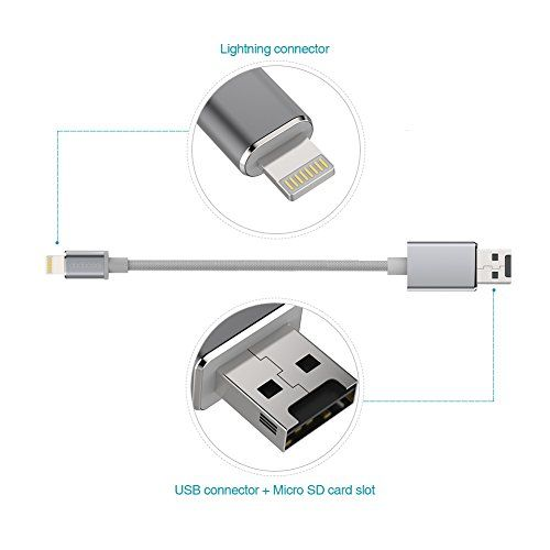 photo Wallpaper of dodocool-Dodocool 2 In 1 IPhone Ladekabel [Apple MFI Zertfiziert] Apple Lightning Auf-Weltraum Grau