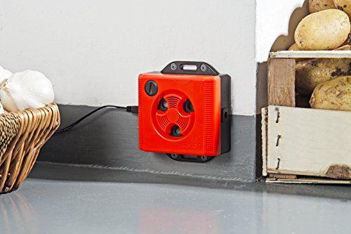 photo Wallpaper of Windhager-Windhager Mäuseabwehr, Mäusevertreiber Ultraschall Topo Stop E250 Mäuseschreck Für Die Steckdose Universalschutz, Rot,-rot