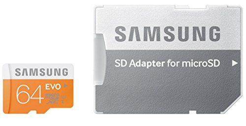 photo Wallpaper of Samsung-Samsung 64GB MicroSDXC 64GB MicroSDXC UHS I Klasse 10 Speicherkarte   Speicherkarten (64-Orange, Weiß