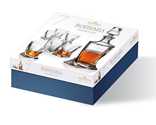 photo Wallpaper of Bohemia Royal-Bohemia Royal Design Whisky Set 7 Tlg.   Karaffe 1000 Ml-