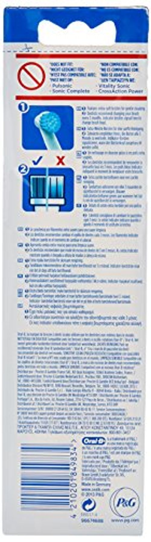 photo Wallpaper of Oral-B-Oral B   Pack De 3 Cabezales Para Cepillos De Dientes Sensible+1-Color Blanco