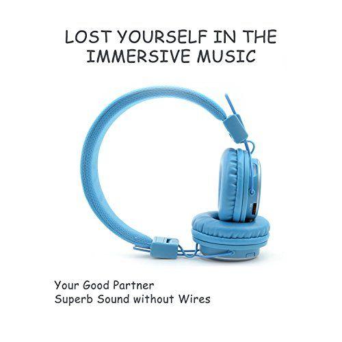 photo Wallpaper of Aitalk-Tragbare Wireless Bluetooth Kopfhörer über Ohr, Aitalk Q8Stereo Faltbar Headsets Mit Mikrofon,-hellblau