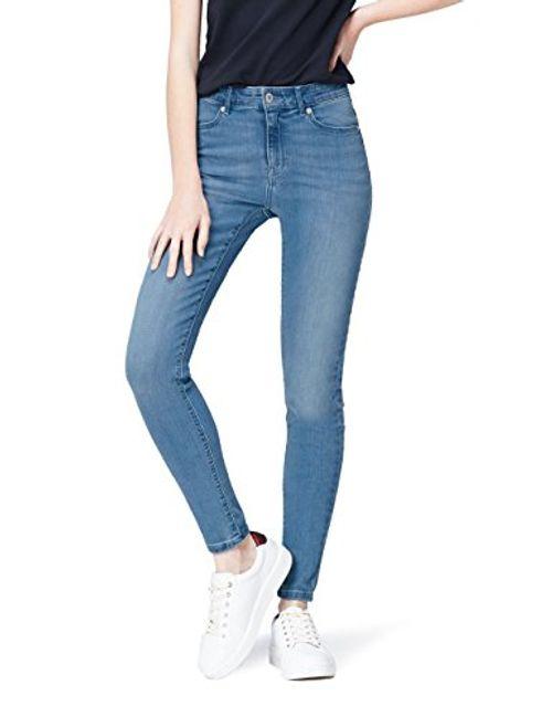 photo Wallpaper of FIND-FIND Skinny Jeans Damen Mit Hohem Bund, Vintage Waschung Und-Blau (Light Blue)