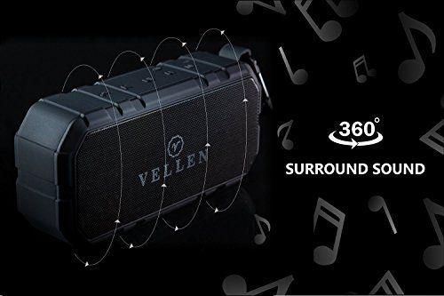 photo Wallpaper of VELLEN-VELLEN Ultralight Wasserdicht Bluetooth Lautsprecher 4.0 10W IP5   Gute Portable-Schwarz