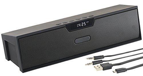 photo Wallpaper of auvisio-Auvisio Audio Lautsprecher: Stereo Lautsprecher, Bluetooth, Freisprecher, MP3, Radio, Wecker, 20-