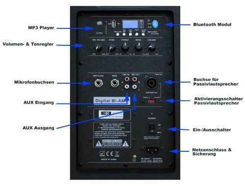 photo Wallpaper of E-Lektron-E Lektron JAD38 B SOUND ANLAGE USB/SD & Bluetooth Aktiv Lautsprecher Soundsystem DIGITALE-Schwarz