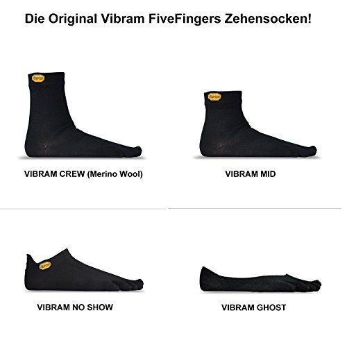 photo Wallpaper of Vibram-Vibram FiveFingers No Show, Color:Black;Size:L (43 45)-Black