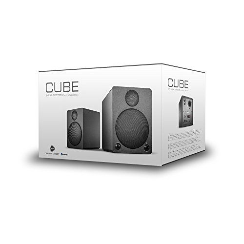 photo Wallpaper of Wavemaster-Wavemaster Cube Black Regal Lautsprecher System (50 Watt) Mit Bluetooth Streaming-Schwarz