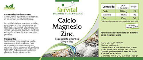photo Wallpaper of fairvital-Fairvital   250 Pastillas De Calcio, Magnesio Y Cinc -