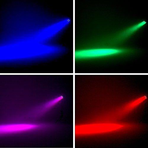 photo Wallpaper of Eyourlife-Eyourlife Bühnenbeleuchtung Discolicht Bühnenlicht Par LED 30W Lichteffekt DMX512 RGB Stage Light 18LEDs-1 Stück