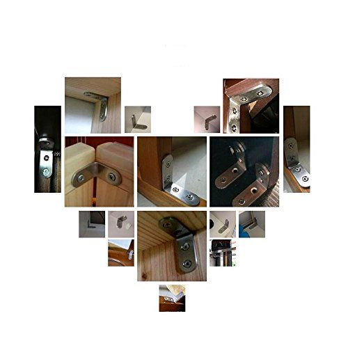 photo Wallpaper of LMYTech-10 Stücke Winkel Klammern LMYTech 90 Grad Winkelverbinder / Edelstahl Schwerlast Winkelverbinder-
