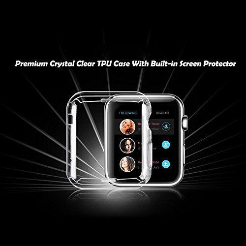 photo Wallpaper of Toeoe-Apple Watch Series 2 Hülle, Toeoe Weiche TPU Schutzhülle Tasche Case Kompletter Schutz Für-durchsichtig