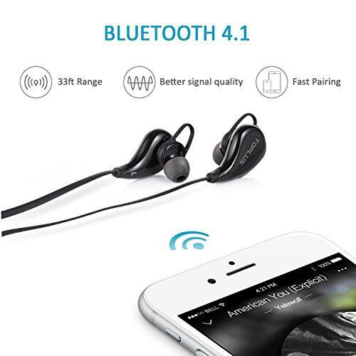 photo Wallpaper of TOPLUS-Sport Kopfhörer Bluetooth In Ear Kopfhörer, TOPLUS In Ear Hifi Stereo Bluetooth Ohrhörer Inklusive-schwarz