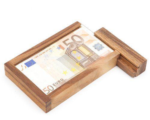 photo Wallpaper of Casa Vivente-Casa Vivente – Magische Geldgeschenkbox – Knobelspiel Aus Holz – Geschenkverpackung-braun