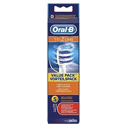 photo Wallpaper of Oral-B-Oral B TriZone   Pack De 5 Recambios Cabezales Para Cepillo Eléctrico Recargable-Rojo