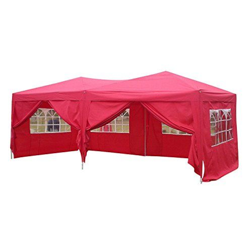 photo Wallpaper of mymotto-Mymotto Partyzelt Pavillon Zelt Faltbar 3 X 6 X 3,3 M-Rot