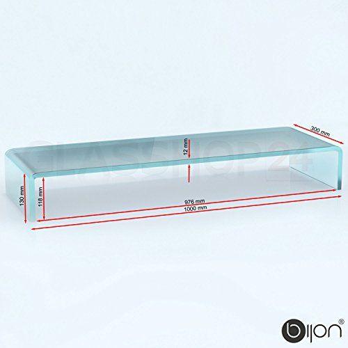 photo Wallpaper of glasshop24-Bijon® TV Glasaufsatz Monitor Erhöhung (B/T/H) 1000x300x130mm   Satin-Satiniert