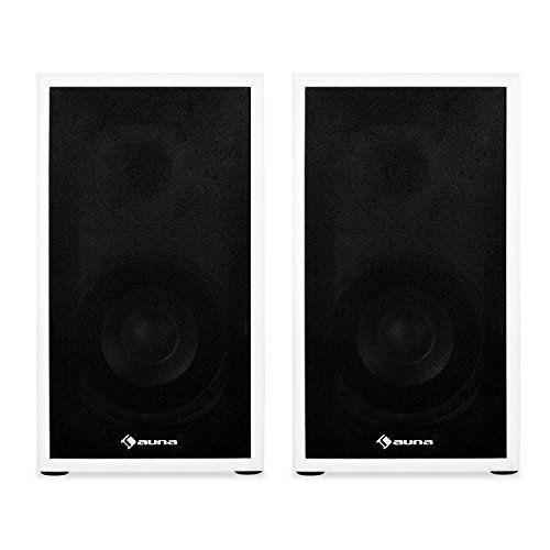 photo Wallpaper of auna-Auna • Linie 300 SF WH • Regallautsprecher • Lautsprecher Boxen-weiß-schwarz