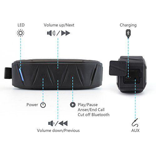 photo Wallpaper of ZENBRE-[Räumungsverkauf] Bluetooth Lautsprecher, ZENBRE D6 2X5 Bluetooth 4.1 Tragbarer Lautsprecher Mit-Schwarz
