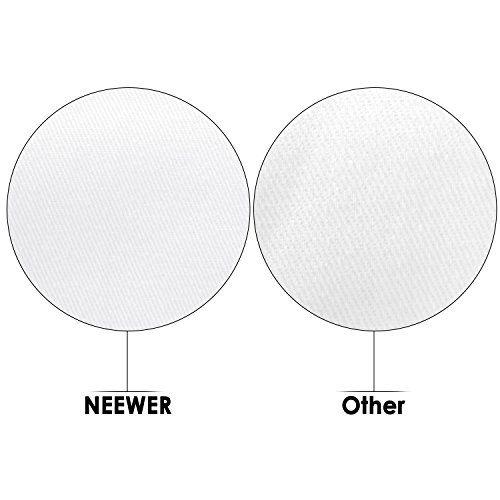 photo Wallpaper of Neewer-Neewer 6 X 9FT/1,8 X 2,8 M Fotostudio 100% Reines Muslin Faltbare Hintergrund-weiß