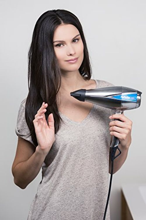 photo Wallpaper of BaByliss-BaByliss Pro Digital 6000E   Secador De Pelo Profesional, Motor Digital, 2300 W,-Gris Y Plata