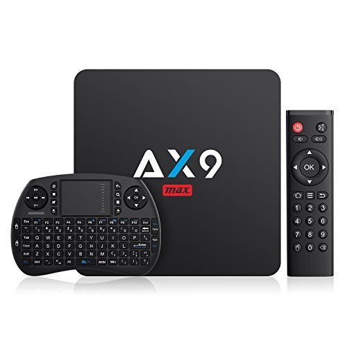 photo Wallpaper of TICTID-TICTID AX9 Max Android TV Box Mit Wireless Mini Tastatur, Android 7.1,-schwarz