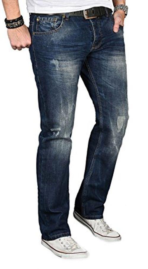 photo Wallpaper of Alessandro Salvarini-Alessandro Salvarini A. Salvarini Designer Herren Jeans Hose Jeanshose Regular Comfort Gerades Bein-