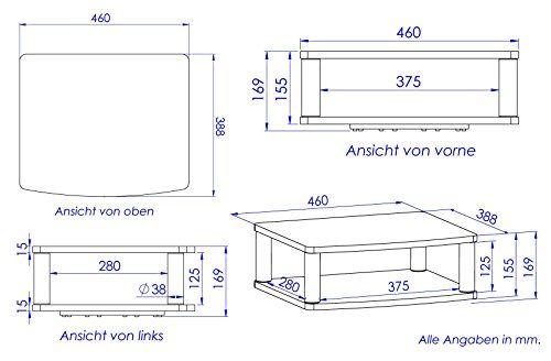 photo Wallpaper of RICOO-RICOO TV Ständer Drehteller Fernsehtisch LCD Fernsehstand Drehbar FS052W LED Fernseher Stand Tisch Aufsatz-FS052W / Drehbar / Weiß