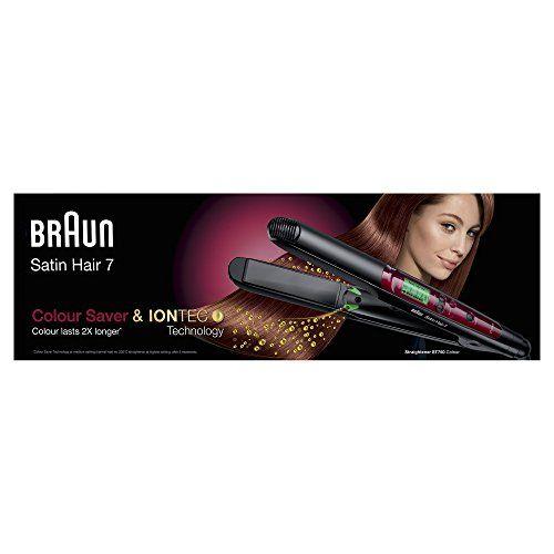 photo Wallpaper of Braun-Braun Satin Hair 7 Colour Saver ST750   Plancha-Negro, Rojo