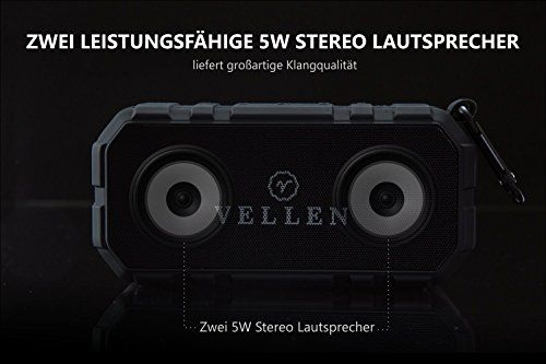 photo Wallpaper of VELLEN-VELLEN Ultralight Wasserdicht Bluetooth Lautsprecher 4.0 10W IP5   Gute-Schwarz