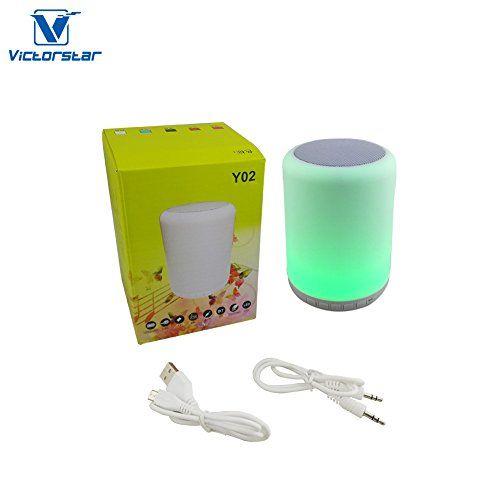 photo Wallpaper of Victorstar-Bluetooth Lautsprecher Mit LED Licht   VICTORSTAR Y02W Touch Tischlicht /-weiß