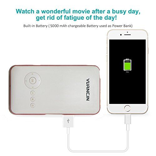 photo Wallpaper of Yuancin-Yuancin 32GB Mini Android Wireless Beamer Heimkino LED Projektor,ekennzeichnet Mit 2.4G+5.8G Dual Wi Fi-Black