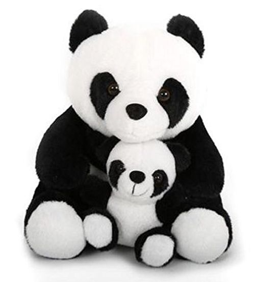 photo Wallpaper of Carousel Home-Adorable Black And White Panda Doorstop With Baby ~ Decorative Panda Door-