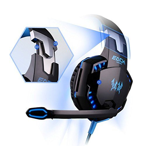 photo Wallpaper of DAPING-Gaming Headset PC Daping Over Ear Kopfhörer Gaming Mit Mikrofon Stereo-Blue