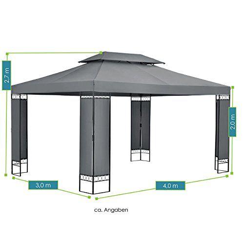 photo Wallpaper of ArtLife-Pavillon Gartenzelt Capri 3 X 4 M In Anthrazit-Anthrazit