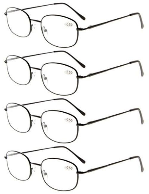 photo Wallpaper of Eyekepper-Eyekepper Gafas De Lectura Con Montura Metálica Y Bisagra De Resorte De-Negro