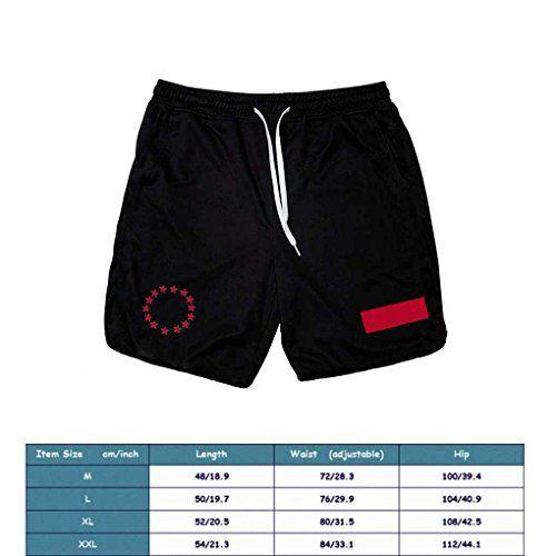 photo Wallpaper of GOTTING-GOTTING Männer Fitness Sweat Shorts Laufhose Atmungsaktiv Hose Athletischer Sport Elastischer Jogger-schwarz mit roten Vorzeichen