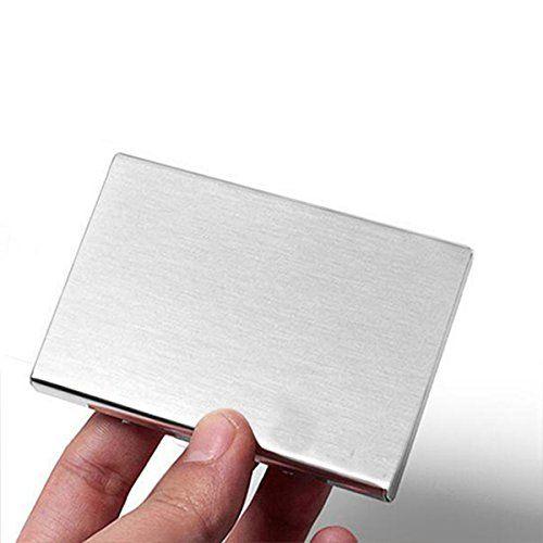 photo Wallpaper of Doutop-Doutop Kreditkartenetui Edelstahl EC Kartenetui RFID Schutzhülle Bankkarten Ziehharmonika Stil EC-Gebürstetes Kreditkartenetui