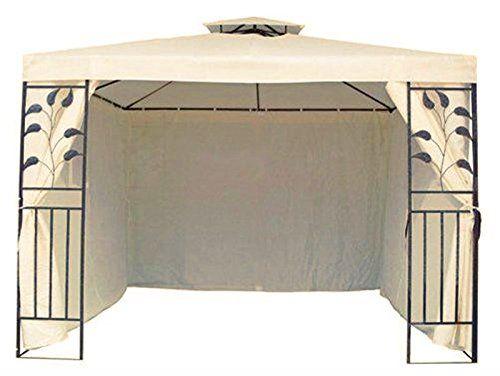 photo Wallpaper of Trendkontor-4 Seitenteile Seitenwände Für 3x3 M Metall Pavillon Beige-beige