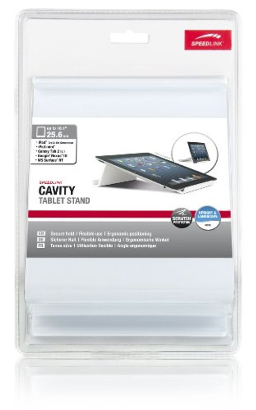 photo Wallpaper of SPEEDLINK-Speedlink Cavity Universeller Tablet Stand (Tablet Ständer Zur Arbeitserleichterung, Zwei Stellwinkel 20-Weiß