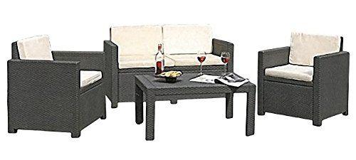 photo Wallpaper of Buri-Lounge Auflagen Set Elfenbein Sesselauflage Sofakissen Gartenmöbel Sitzkissen-elfenbein