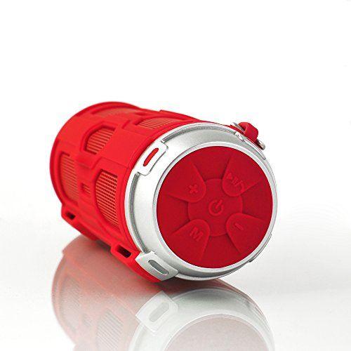 photo Wallpaper of Leicke-LEICKE DJ Roxxx Active Stereo Tragbarer Lautsprecher 10W Rot–Tragbare Lautsprecher-rot