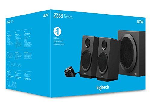 photo Wallpaper of Logitech-Logitech Z333 Multimedia Speakers   Lautsprecher Für Home Entertainment (mit 80 Watt Und Subwoofer)-Schwarz